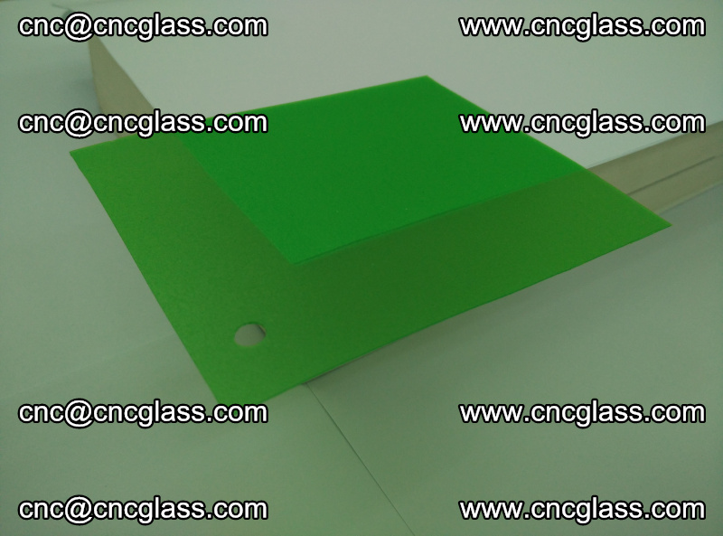 Eva glass laminating interlayer film foil Light green transparent color (4)