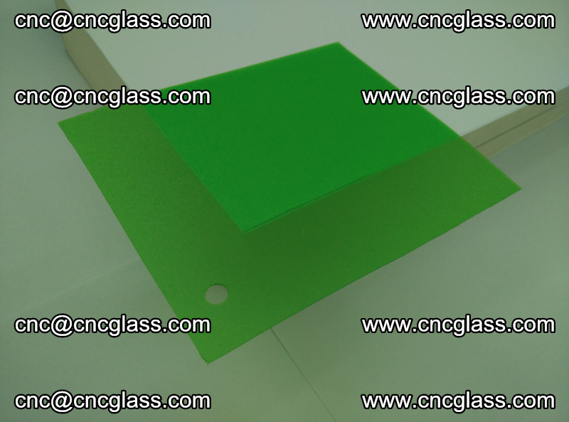 Eva glass laminating interlayer film foil Light green transparent color (8)