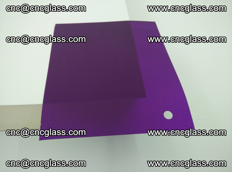 Eva glass laminating interlayer film foil (Purple clear eva) (1)