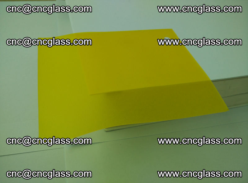 Eva glass laminating interlayer film foil (clear lemon yellow eva) (1)