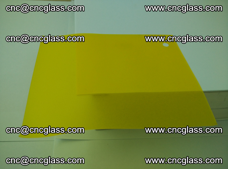 Eva glass laminating interlayer film foil (clear lemon yellow eva) (10)