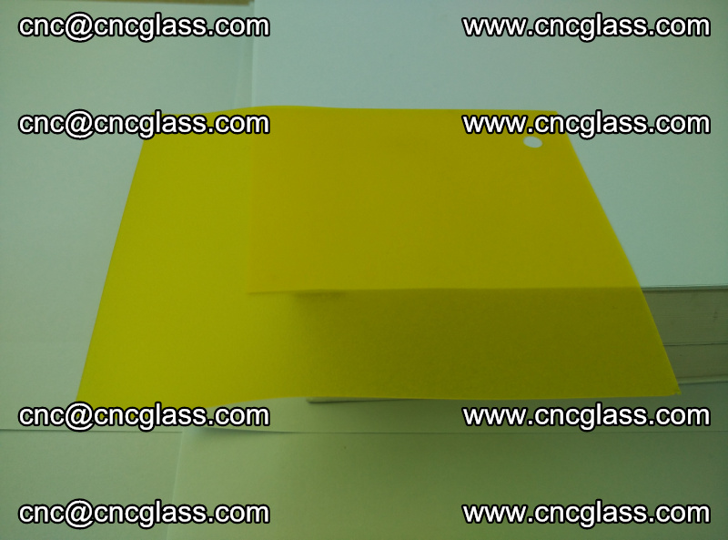 Eva glass laminating interlayer film foil (clear lemon yellow eva) (13)