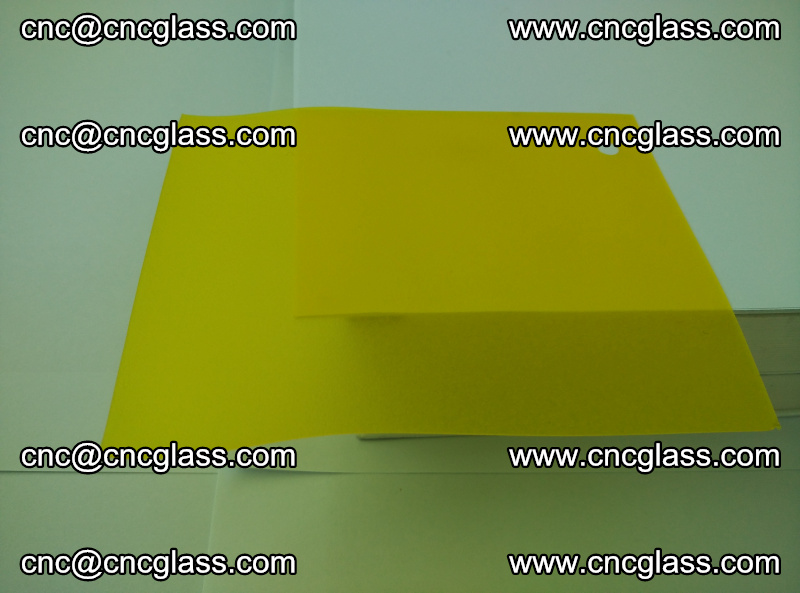 Eva glass laminating interlayer film foil (clear lemon yellow eva) (14)