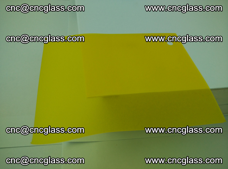Eva glass laminating interlayer film foil (clear lemon yellow eva) (16)