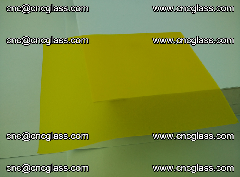 Eva glass laminating interlayer film foil (clear lemon yellow eva) (17)