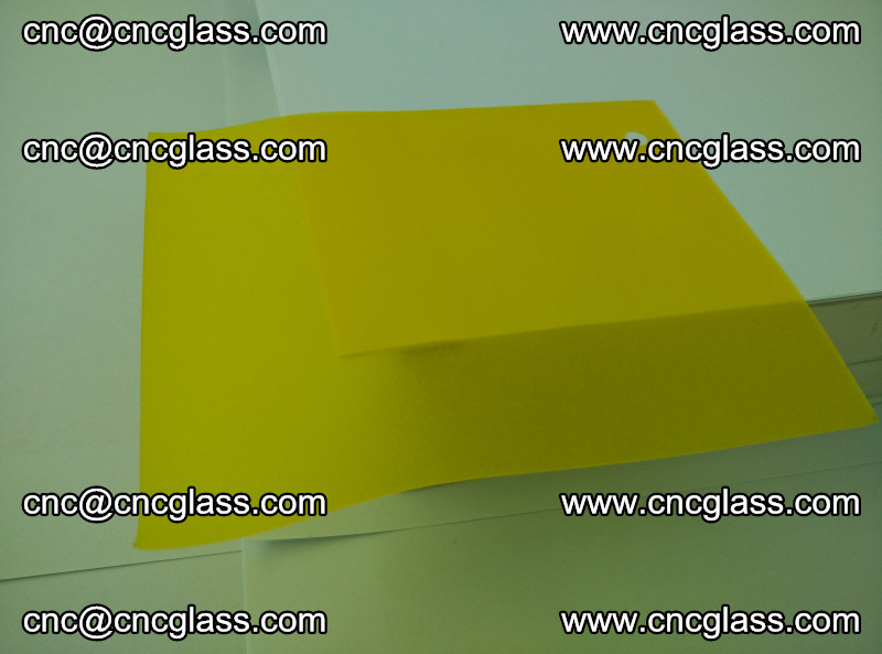 Eva glass laminating interlayer film foil (clear lemon yellow eva) (18)