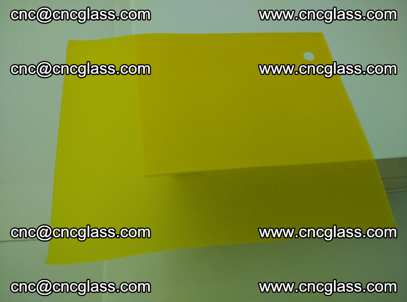 Eva glass laminating interlayer film foil (clear lemon yellow eva) (2)