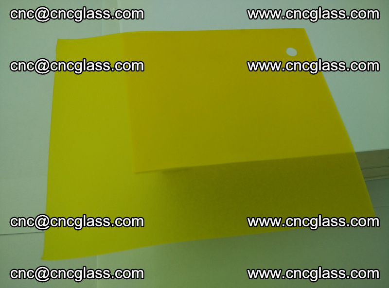 Eva glass laminating interlayer film foil (clear lemon yellow eva) (4)