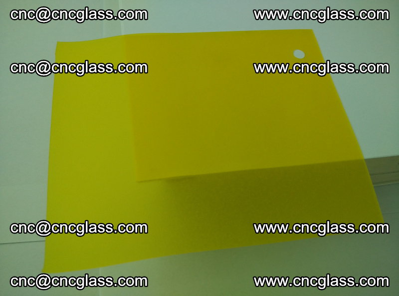 Eva glass laminating interlayer film foil (clear lemon yellow eva) (5)