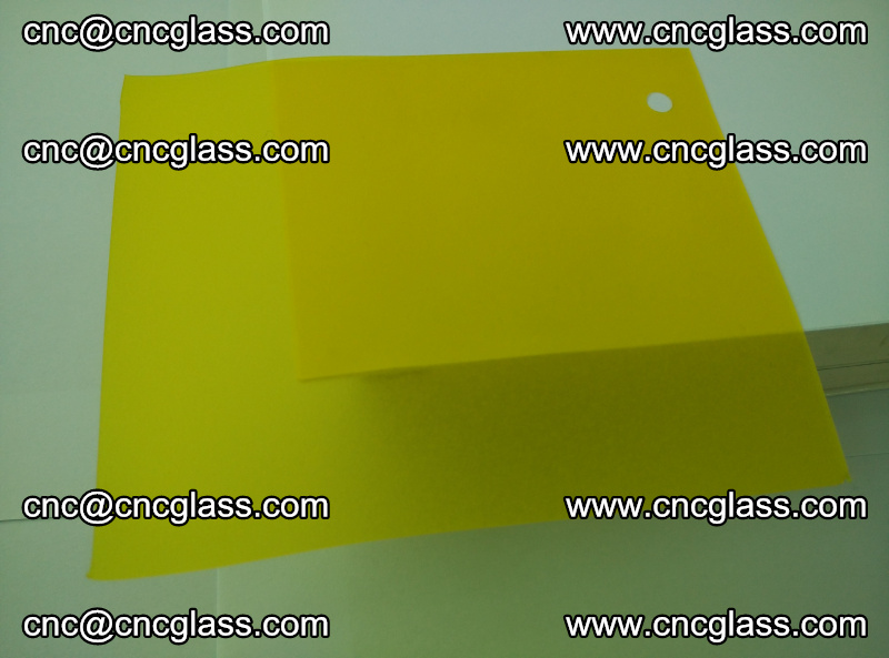 Eva glass laminating interlayer film foil (clear lemon yellow eva) (6)