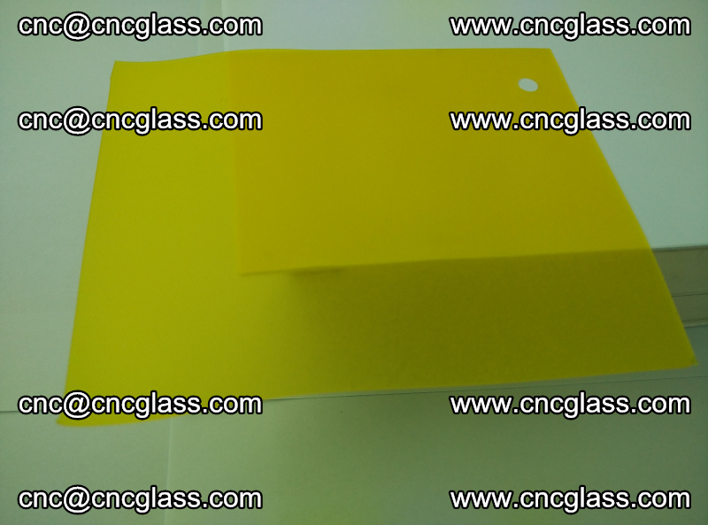 Eva glass laminating interlayer film foil (clear lemon yellow eva) (8)