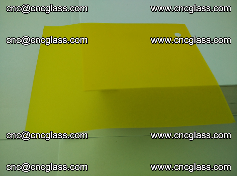Eva glass laminating interlayer film foil (clear lemon yellow eva) (9)