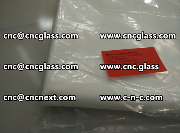 EVA encapsulate objects sandwiched within the glass laminate (4)