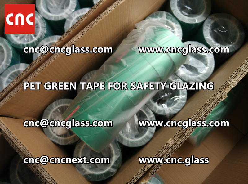 PET GREEN TAPE for eva film lamination pvb film (4)