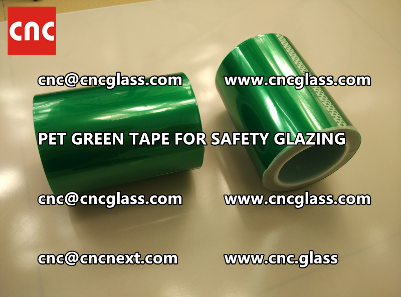 PET GREEN TAPE for eva film laminationglazing (1)