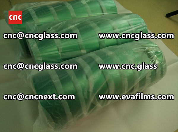 PET SILICONE GREEN TAPE for safety glass lamination (1)
