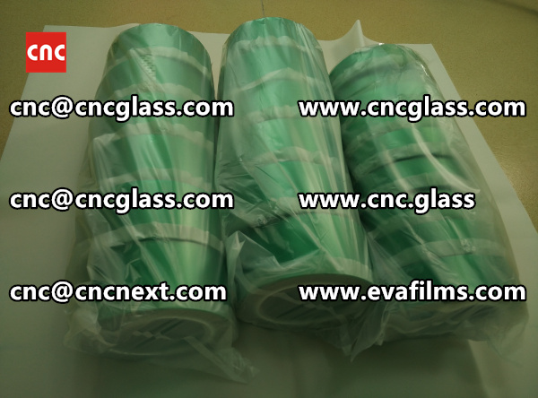 PET SILICONE GREEN TAPE for safety glass lamination (2)