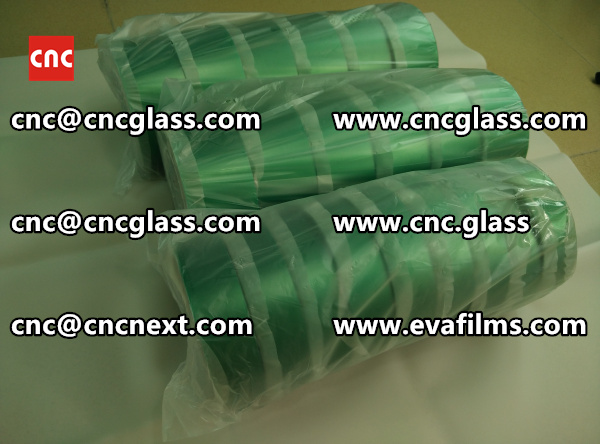 PET SILICONE GREEN TAPE for safety glass lamination (3)