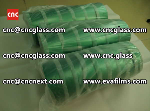 PET SILICONE GREEN TAPE for safety glass lamination (4)