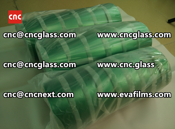 PET SILICONE GREEN TAPE for safety glass lamination (5)
