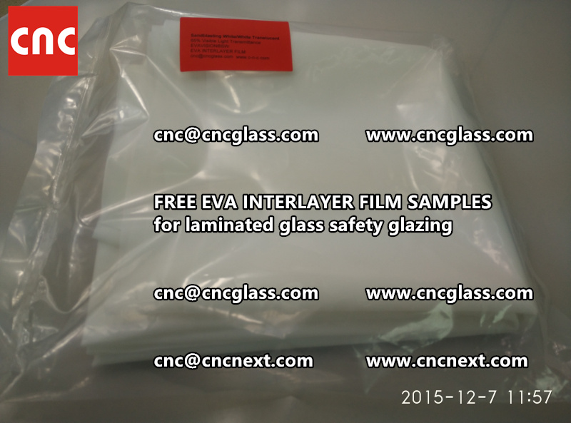 CROSS LINKED EVA GLASS INTERLAYER samples for laminated glass safety glazing test (10)