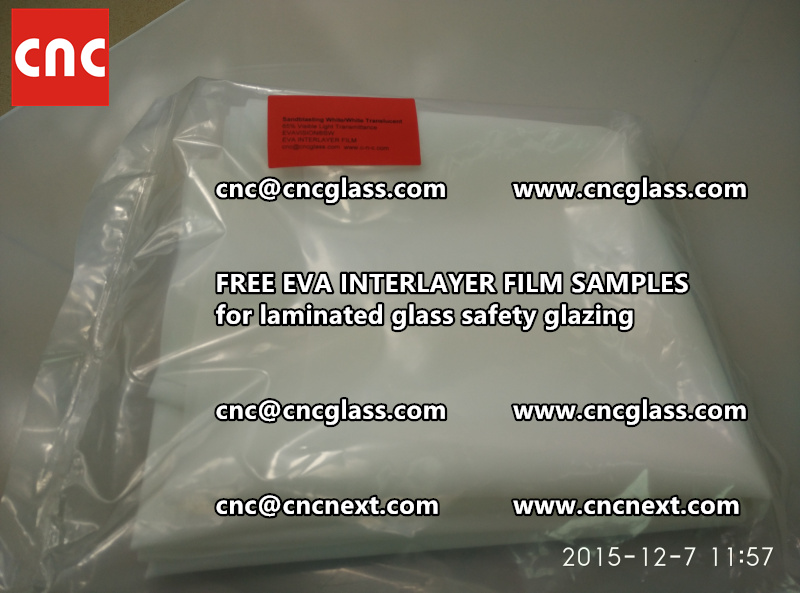CROSS LINKED EVA GLASS INTERLAYER samples for laminated glass safety glazing test (11)