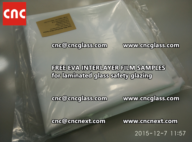 CROSS LINKED EVA GLASS INTERLAYER samples for laminated glass safety glazing test (13)