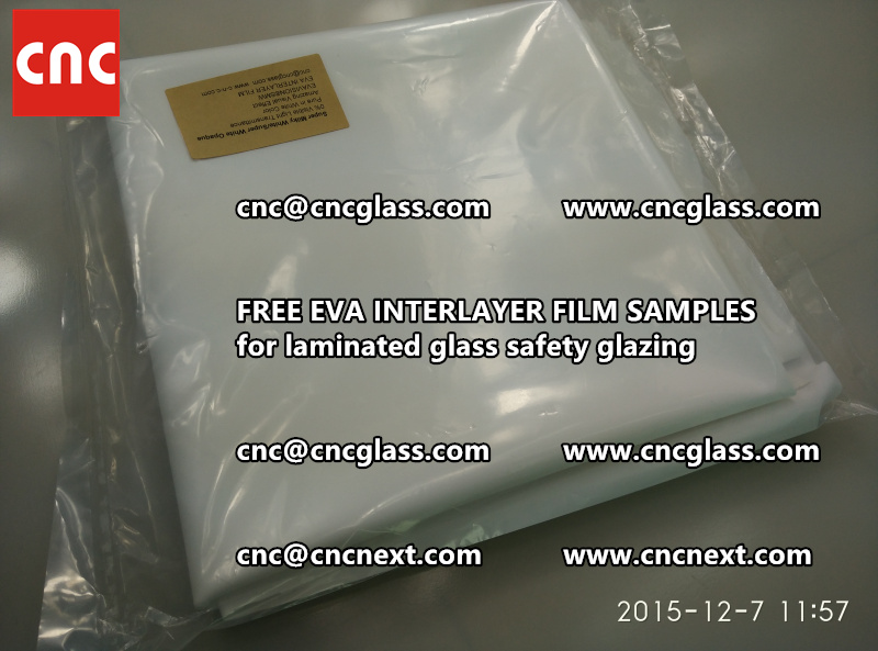 CROSS LINKED EVA GLASS INTERLAYER samples for laminated glass safety glazing test (14)