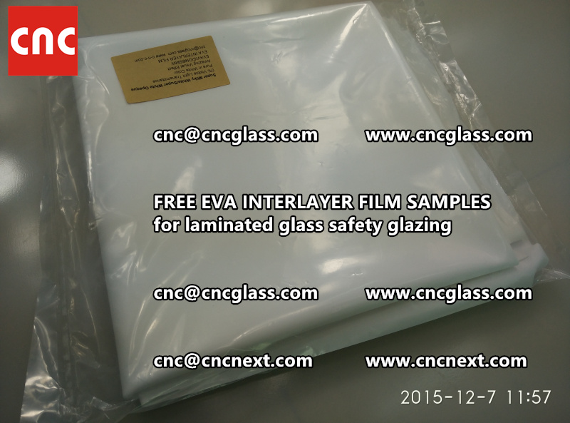 CROSS LINKED EVA GLASS INTERLAYER samples for laminated glass safety glazing test (15)