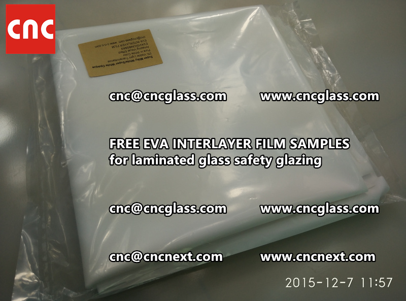 CROSS LINKED EVA GLASS INTERLAYER samples for laminated glass safety glazing test (16)