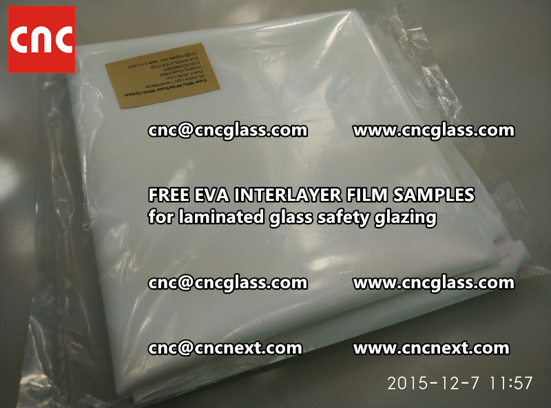 CROSS LINKED EVA GLASS INTERLAYER samples for laminated glass safety glazing test (17)