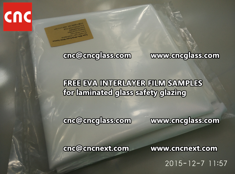 CROSS LINKED EVA GLASS INTERLAYER samples for laminated glass safety glazing test (18)