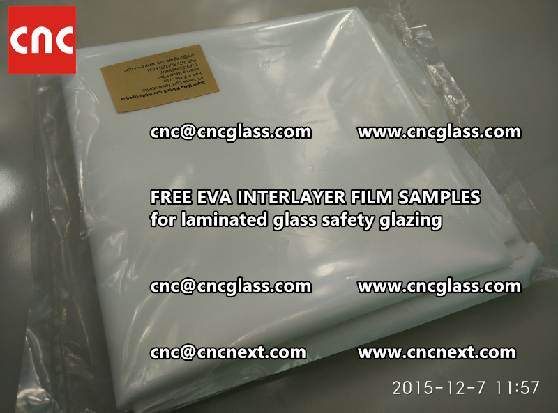 CROSS LINKED EVA GLASS INTERLAYER samples for laminated glass safety glazing test (19)