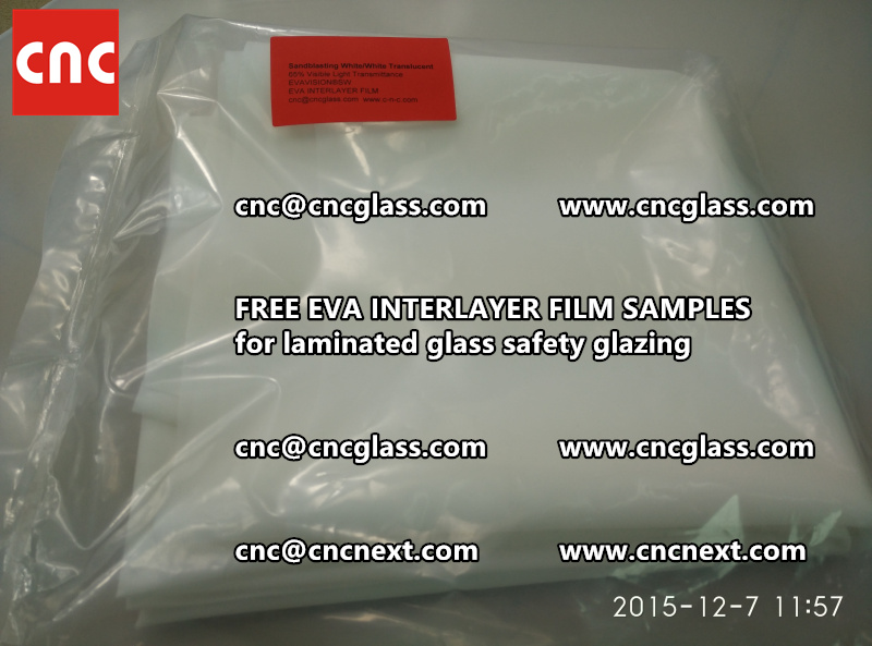 CROSS LINKED EVA GLASS INTERLAYER samples for laminated glass safety glazing test (2)