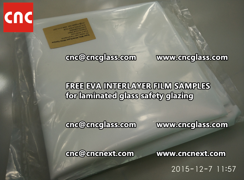 CROSS LINKED EVA GLASS INTERLAYER samples for laminated glass safety glazing test (20)