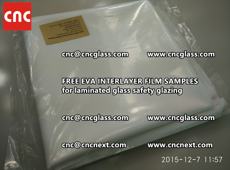 CROSS LINKED EVA GLASS INTERLAYER samples for laminated glass safety glazing test (21)