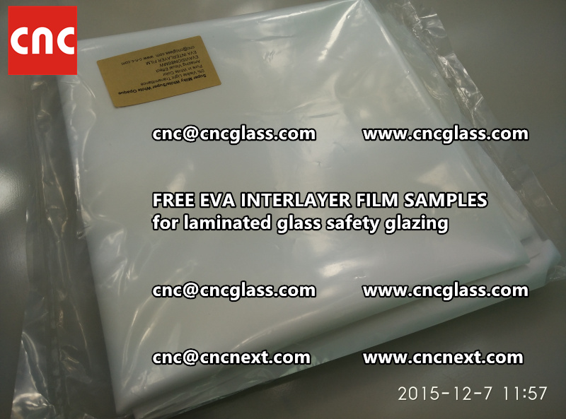 CROSS LINKED EVA GLASS INTERLAYER samples for laminated glass safety glazing test (22)