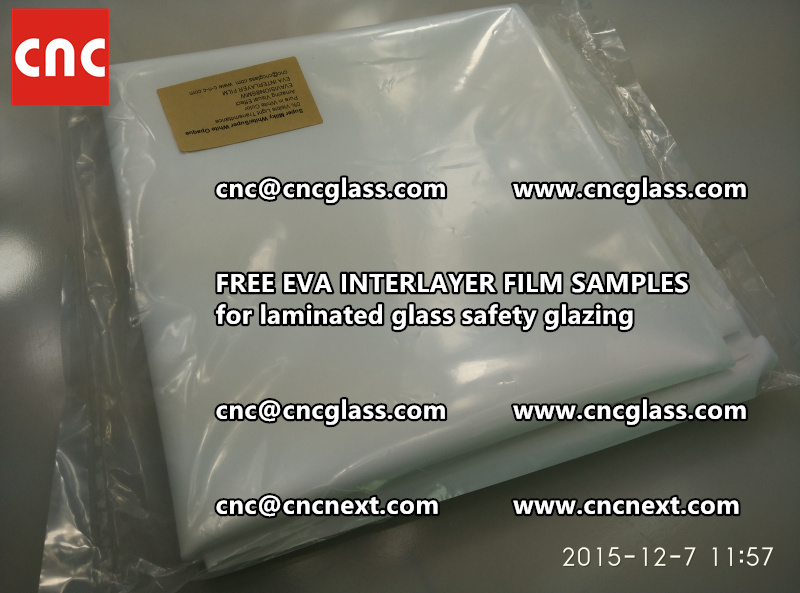 CROSS LINKED EVA GLASS INTERLAYER samples for laminated glass safety glazing test (23)