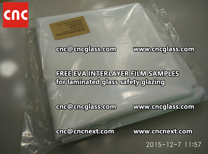 CROSS LINKED EVA GLASS INTERLAYER samples for laminated glass safety glazing test (24)
