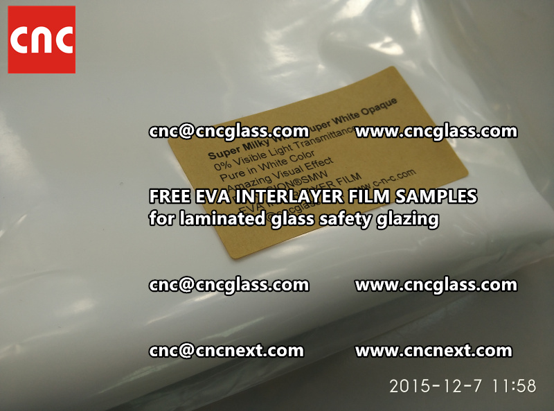 CROSS LINKED EVA GLASS INTERLAYER samples for laminated glass safety glazing test (26)