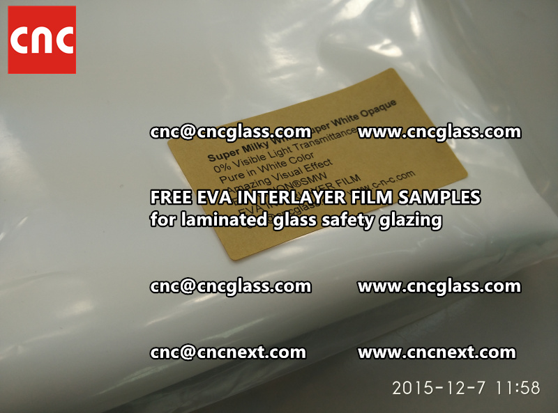 CROSS LINKED EVA GLASS INTERLAYER samples for laminated glass safety glazing test (27)