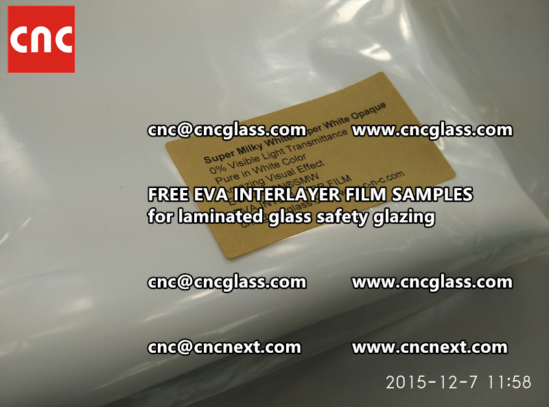 CROSS LINKED EVA GLASS INTERLAYER samples for laminated glass safety glazing test (28)