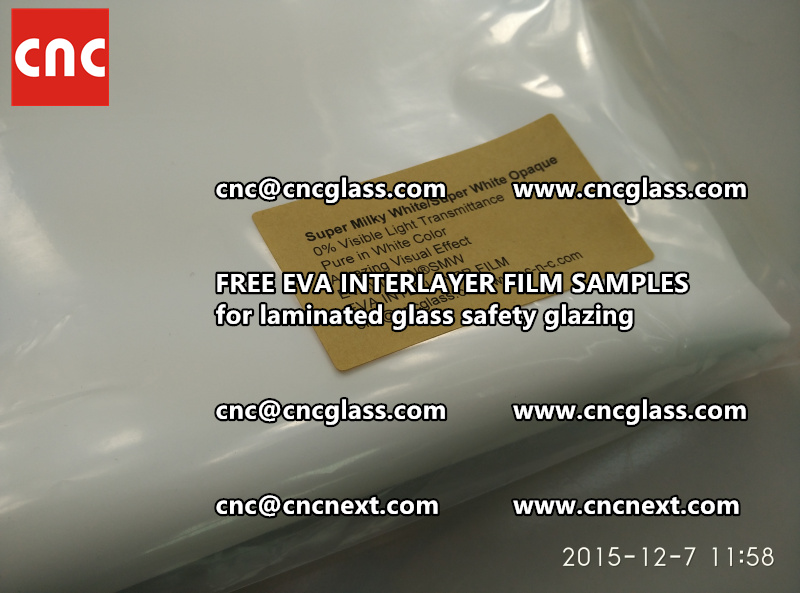 CROSS LINKED EVA GLASS INTERLAYER samples for laminated glass safety glazing test (29)