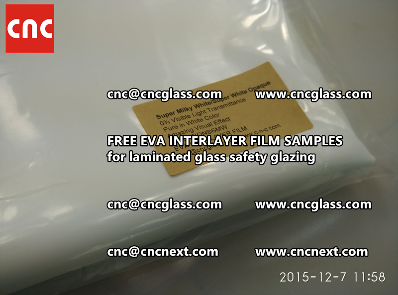 CROSS LINKED EVA GLASS INTERLAYER samples for laminated glass safety glazing test (30)