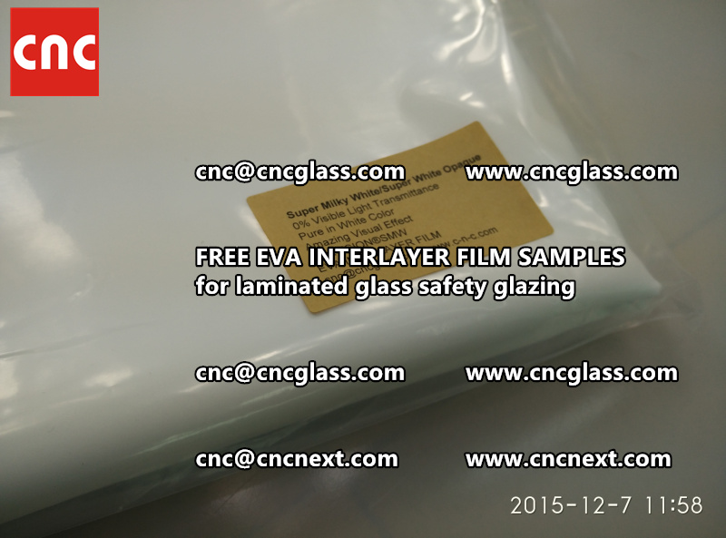 CROSS LINKED EVA GLASS INTERLAYER samples for laminated glass safety glazing test (31)