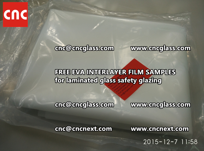 CROSS LINKED EVA GLASS INTERLAYER samples for laminated glass safety glazing test (33)