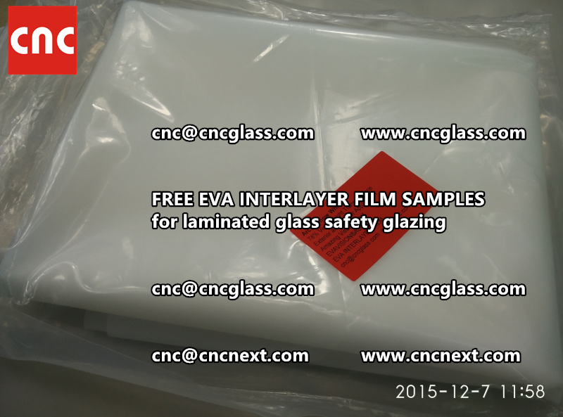 CROSS LINKED EVA GLASS INTERLAYER samples for laminated glass safety glazing test (36)