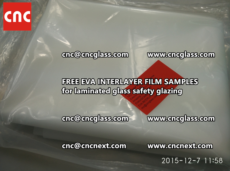 CROSS LINKED EVA GLASS INTERLAYER samples for laminated glass safety glazing test (37)