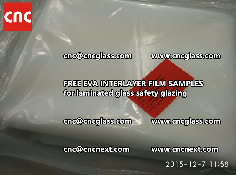 CROSS LINKED EVA GLASS INTERLAYER samples for laminated glass safety glazing test (38)