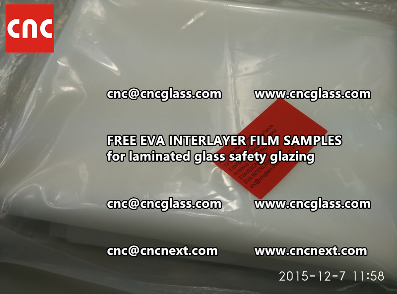 CROSS LINKED EVA GLASS INTERLAYER samples for laminated glass safety glazing test (39)